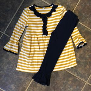 Other - Yellow/ Navy Long-Sleeve Pant Set 3T